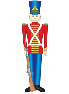christmas toy soldier cardboard stand up - Christmas Toy Soldiers