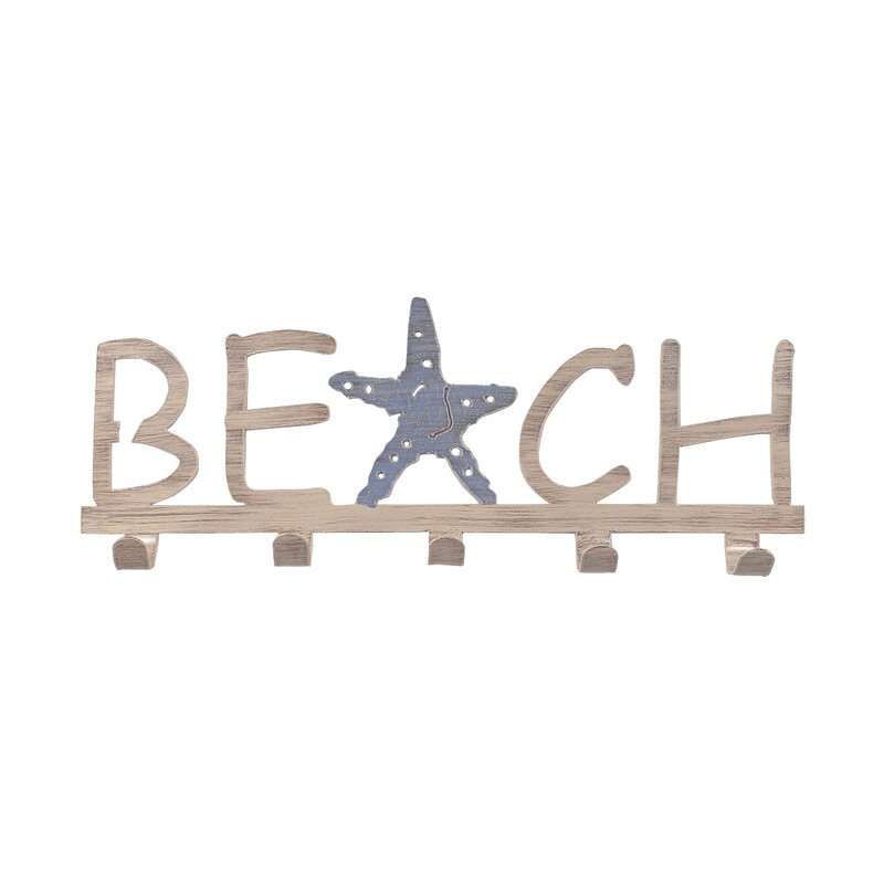 Isley Iron Beach Wall Mounted Coat Rack
