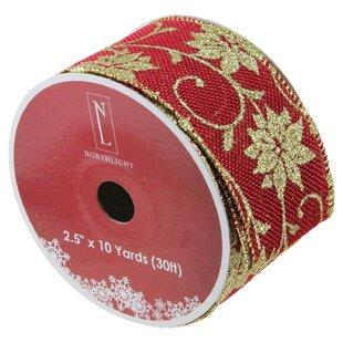 natural burlap wired christmas craft ribbon set of 12
