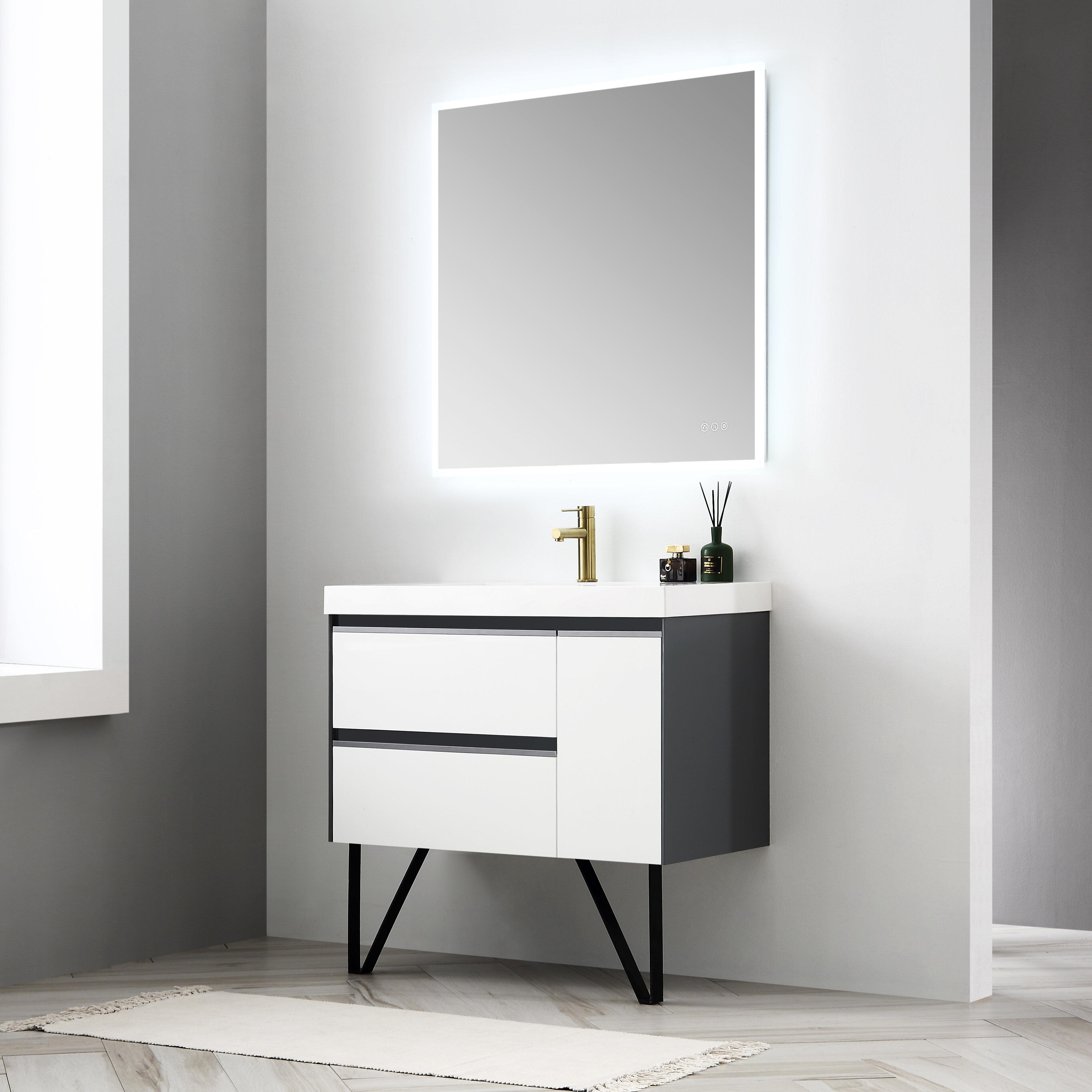 Brayden Studio Courtnie Waterproof Ergonomic 36 Single Bathroom Vanity Set With Mirror Wayfair