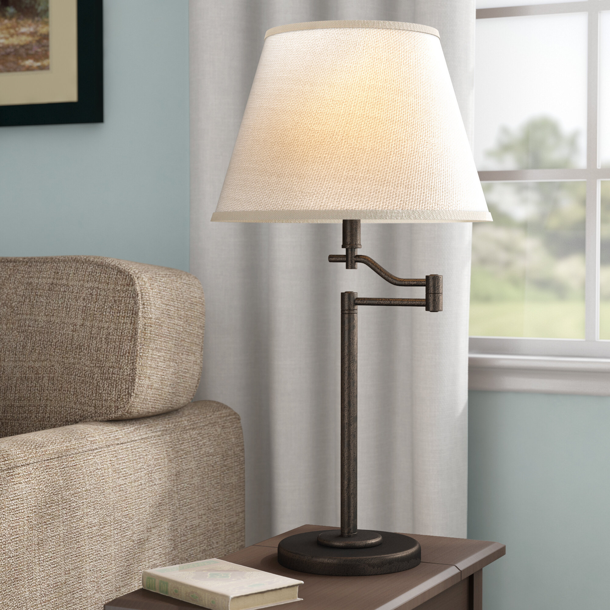 Three Posts Waterville 3 Way Swing Arm 28 5 Table Lamp Reviews