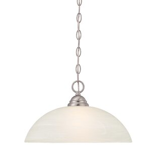 Charlton Home Eichelberger 1-Light Frosted Shade Mini Pendant