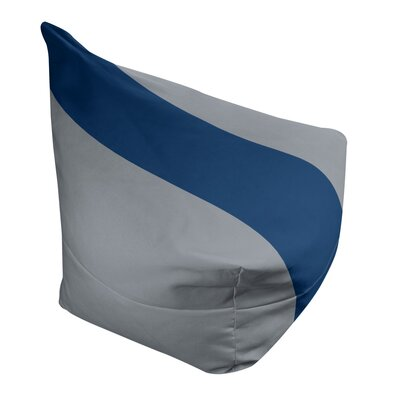 "Bean Bag Cover East Urban Home Fabric: Silver/Navy Blue, Size: 30"" H x 27"" W x 2"" D"