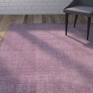 Eberly Mauve Solid Area Rug