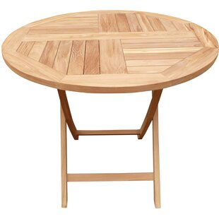 Highland Dunes Cosper Folding Teak Dining Table