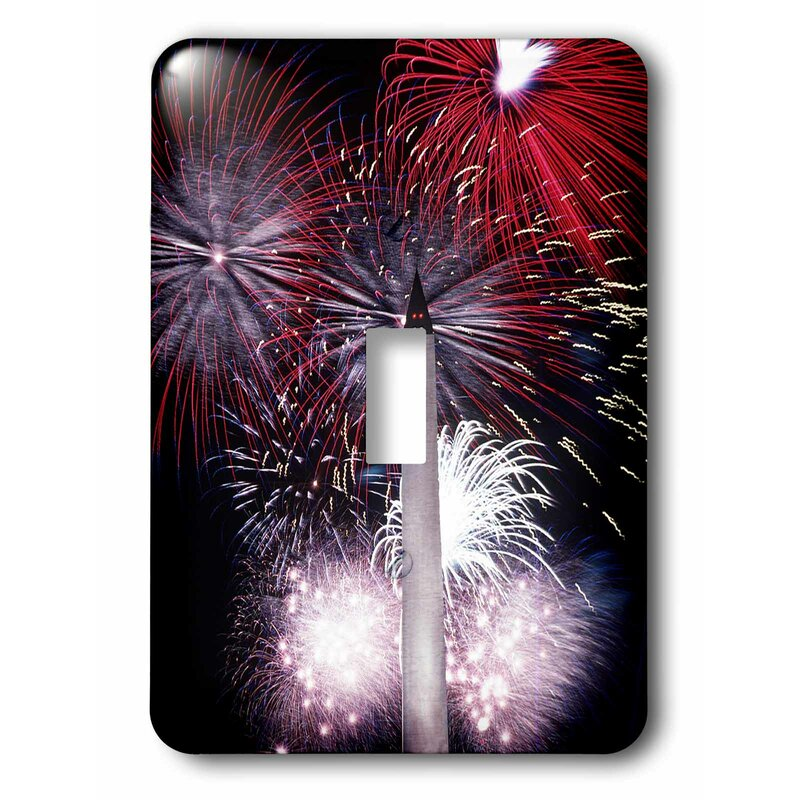 3drose Switch Washington Monument Fireworks 1 Gang Toggle Light Switch Wall Plate Wayfair