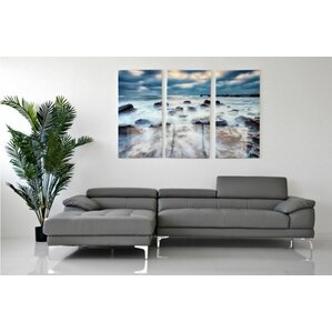Auger Reclining Sectional by Orren Ellis
