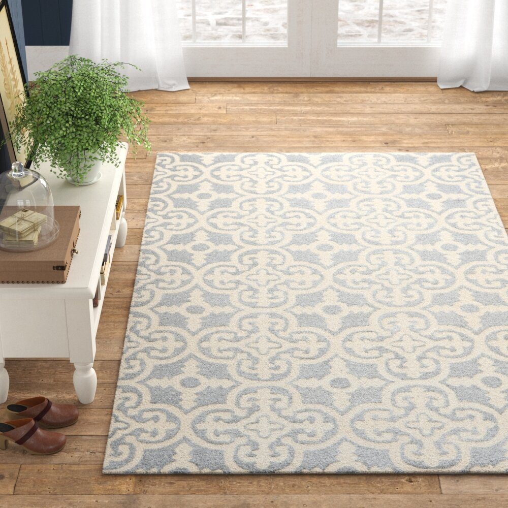 Allium Hand Tufted Wool Gray Area Rug