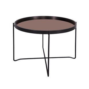 Polished Coffee Table With Tray Top By Leitmotiv