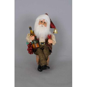 Christmas Wine Santa Figurine