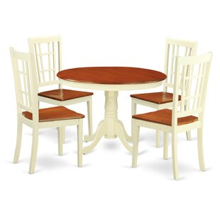 Travis 5 Piece Dining Set by August Grove