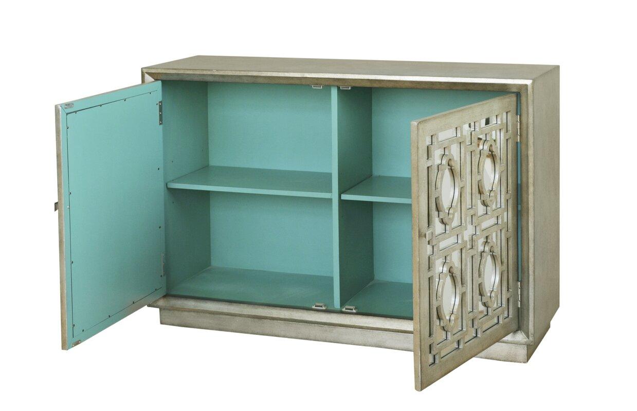 One Allium Way Cheval 2 Door Credenza Accent Cabinet & Reviews | Wayfair