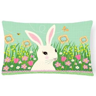 Easter Bunny Rabbit Lumbar Pillow