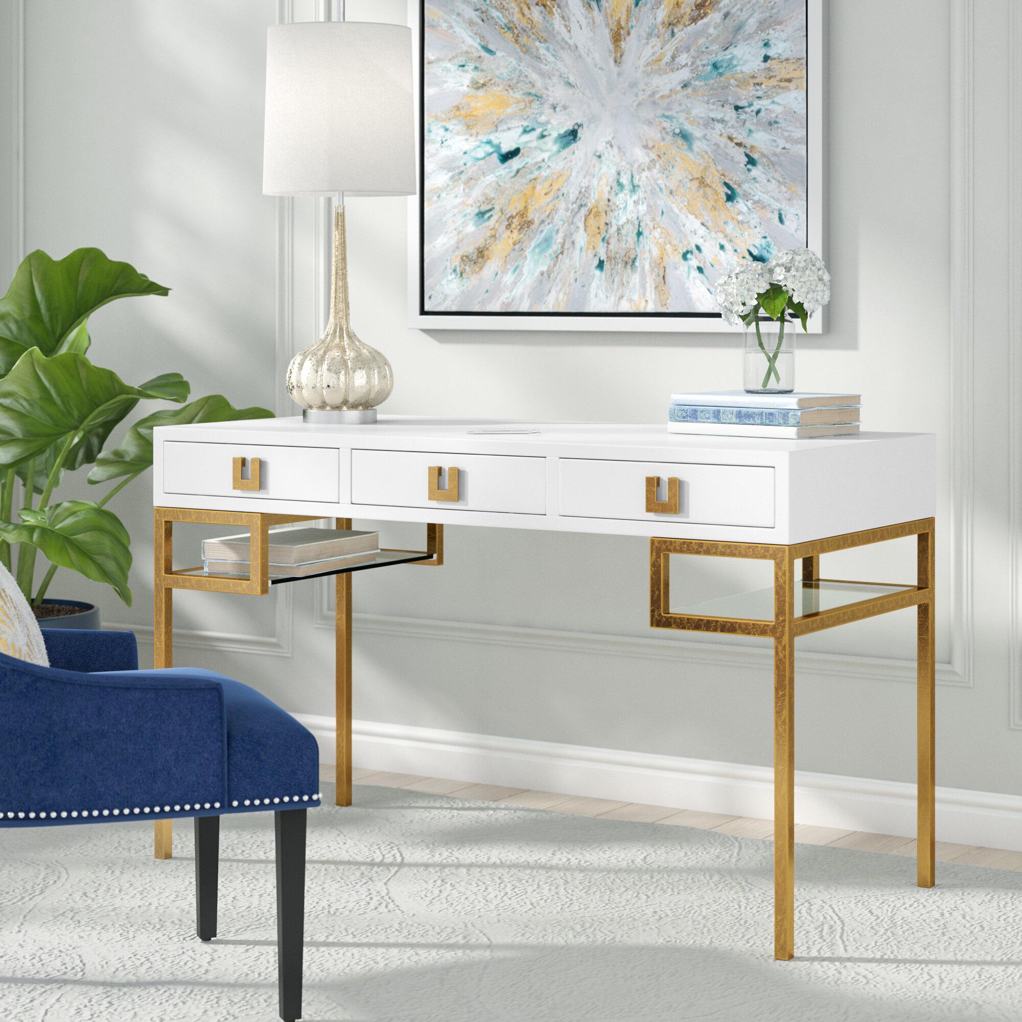 Willa Arlo Interiors Angilia Writing Desk | Wayfair