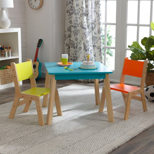 Superb Modern Kids 3 Piece Writing Table And Chair Set Unemploymentrelief Wooden Chair Designs For Living Room Unemploymentrelieforg