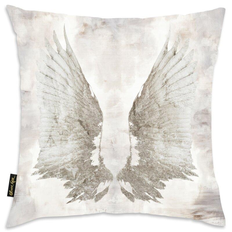Oakwood My Wings Chie Velvet Throw Pillow