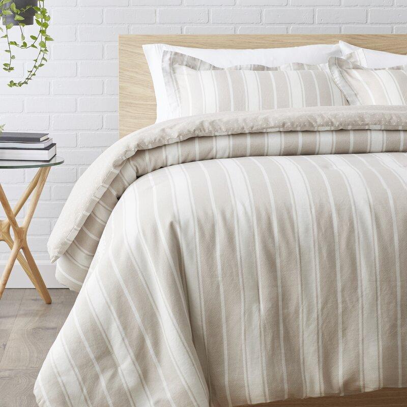 Alcott Hill Bednar 2 Piece Reversible Comforter Set Reviews Wayfair