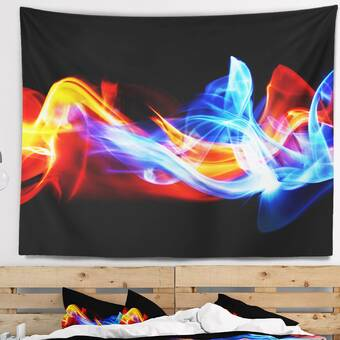 East Urban Home Abstract Fire And Ice Tapestry Wayfair
