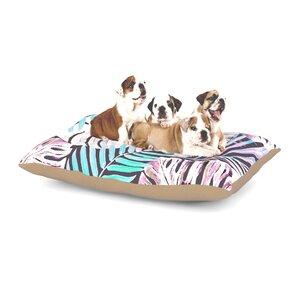 Alison Coxon 'Midnight Jungle' Dog Pillow with Fleece Cozy Top