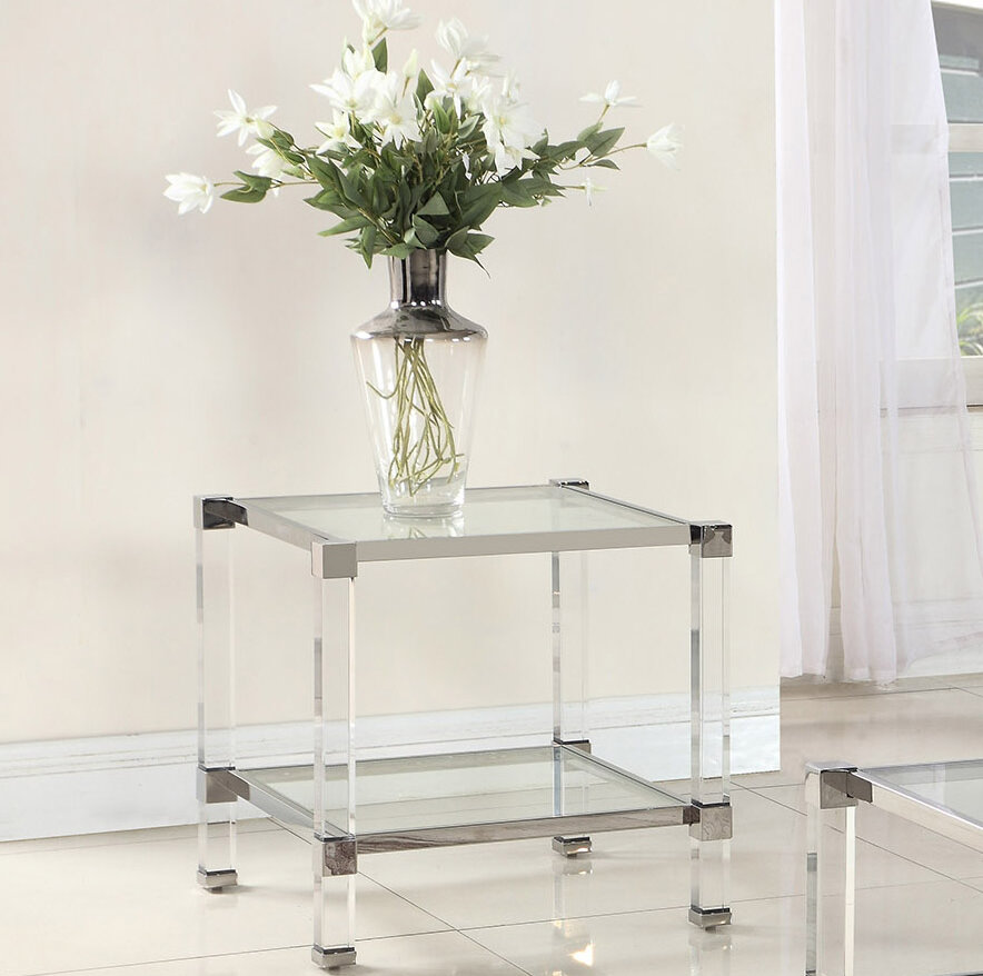 Orren Ellis Mcauley End Table Wayfair