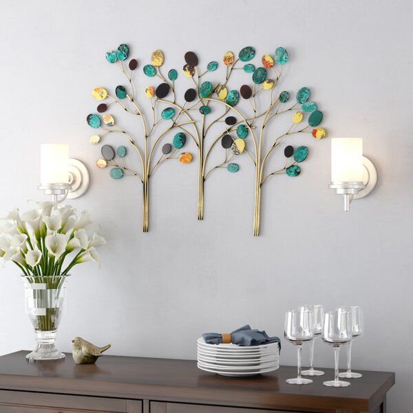 Winston Porter Metal Trees Wall Décor