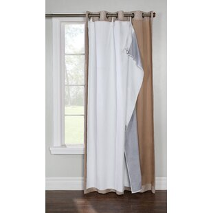 Dorset Solid Max Blackout Thermal Single Curtain Liner by Alcott Hill