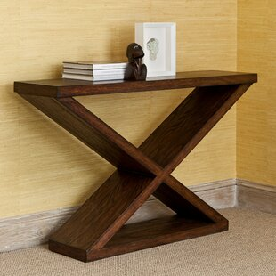 Ambella Home Collection Salone Scuro Double-V Console Table