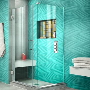 Unidoor Plus 29.5 x 72 Hinged Frameless Shower Door with Clear Max Technology by DreamLine