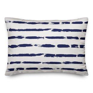 Steinke Painted Strokes Outdoor Lumbar Pillow