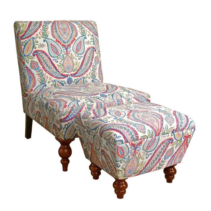 Superb Yareli Slipper Chair And Ottoman Bralicious Painted Fabric Chair Ideas Braliciousco