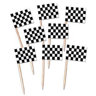 Checkered Flag Pick (Set of 12)