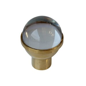 dome shaped clear crystal cabinet knob brass brass nickel