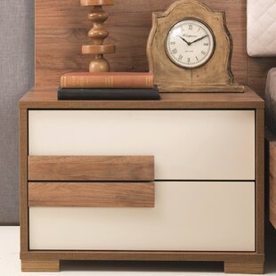 Wrought Studio Linsey 2 Drawer Nightstand