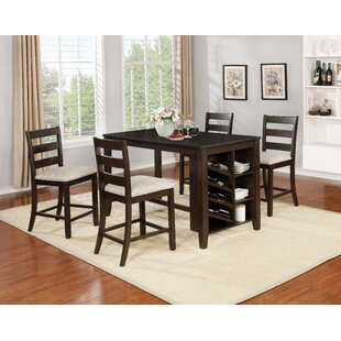 Gracie Oaks Uniontown 5 Piece Counter Height Dining Set