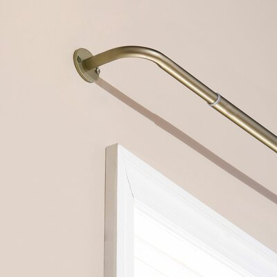 Best Home Fashion, Inc. Perfect Wraparound Blackout Single Curtain Rod and Hardware Set Size: 96 W, Color: Bronze