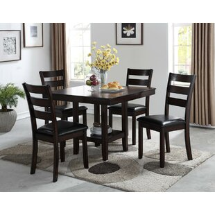 Cromwell Reg 5 Piece Breakfast Nook Solid Wood Dining Set