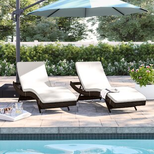 Brayden Chaise Lounge With Cushion (Set Of 2) by Sol 72 Outdoor 2019 Coupon