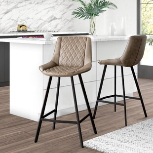 Elks 25.59 Bar Stool (Set of 2) Mercury Row