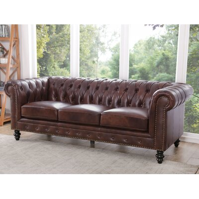 Leather Amp Leather Sofas You Ll Love In 2019 Wayfair