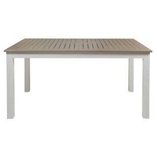 Lumber City Extendable Aluminium Dining Table By August Grove