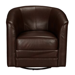 Asellus Traditional Swivel Accent Barrel Chair