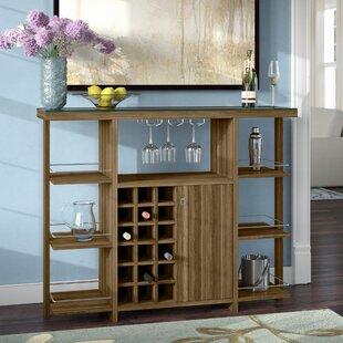 Red Barrel Studio Malin Bar with Wine Storage