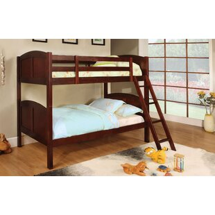 Crags Twin Over Twin Bunk Bed by Harriet Bee Best Choices