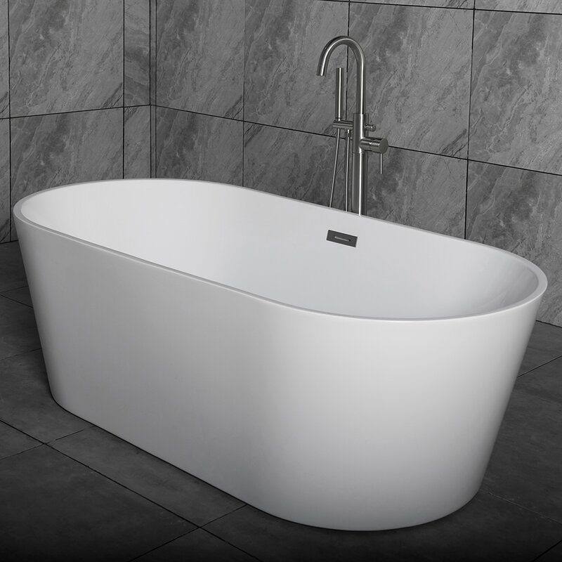 "woodbridge 59"" x 29.5"" freestanding soaking bathtub & reviews 