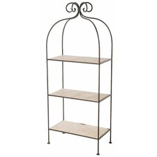 Scroll 3-Tier Double Width Standing Tile Shelf 62 Accent Shelves Bookcase by Stone County Ironworks