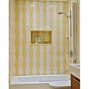 Best Price 33.5 x 70 Pivot Semi-Frameless Tub Door ByArk Showers