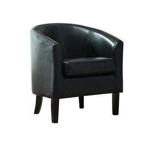 Beau Black Barrel Back Chairs | Wayfair