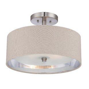 South Perth 2-Light Semi-Flush Mount by Latitude Run