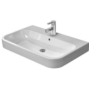 Bargain Happy D. Ceramic 26 Wall Mount Bathroom Sink with Overflow By Duravit