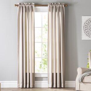 Solid Room Darkening Rod Pocket Single Curtain Panel